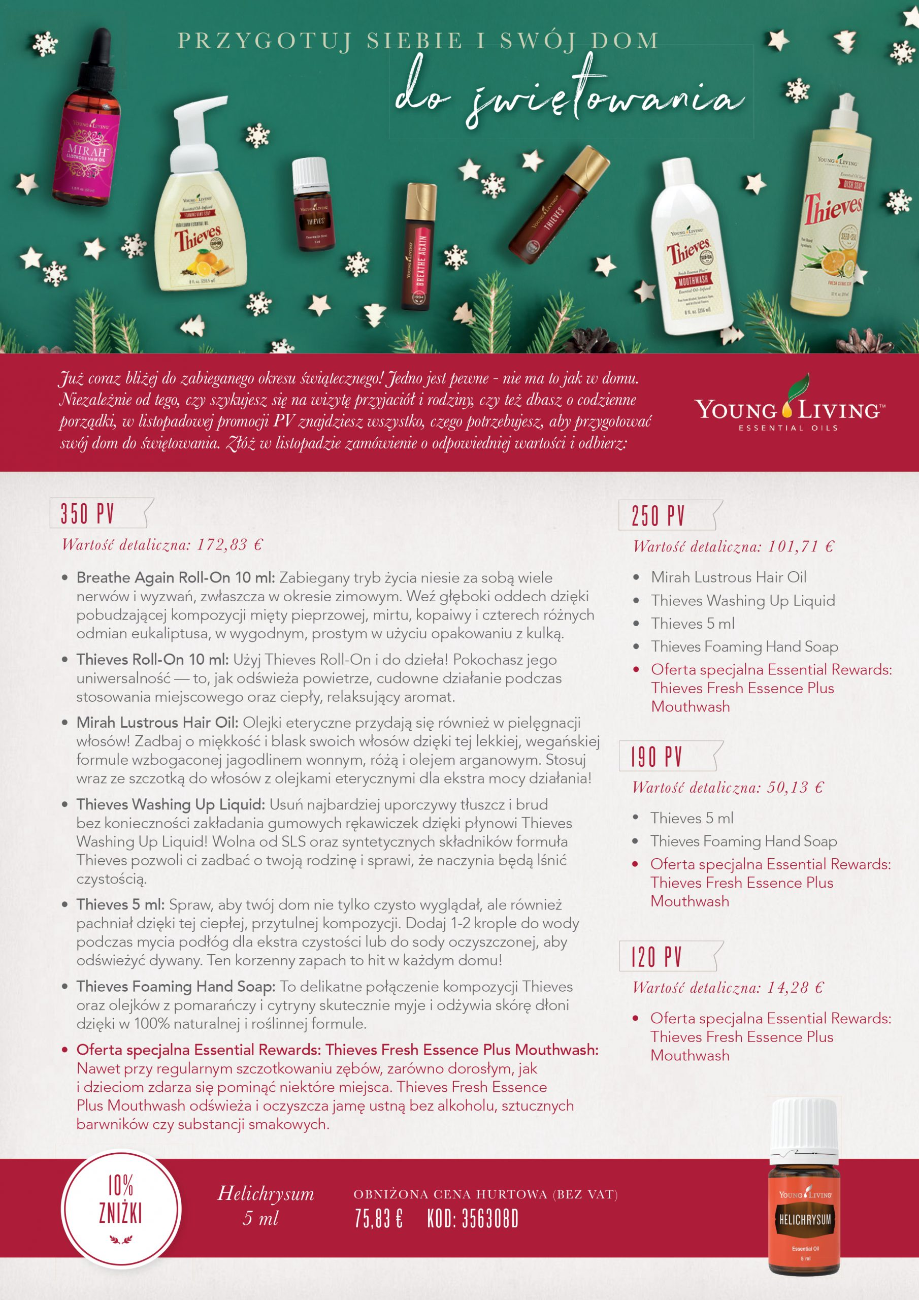 Young living promocja listopad 2019